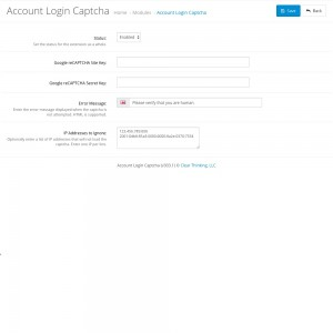 Account Login Captcha