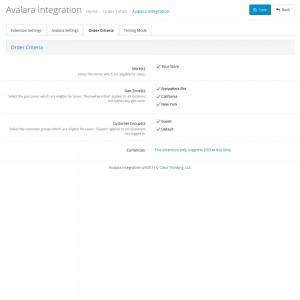 Avalara Integration