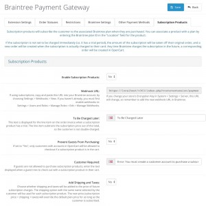 Braintree Payment Gateway