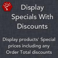 Display Specials With Discounts