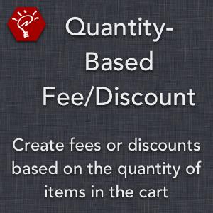 Quantity-Based Fee/Discount