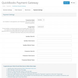 QuickBooks Payment Gateway
