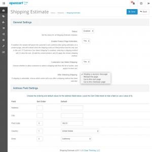 Shipping Estimate Module